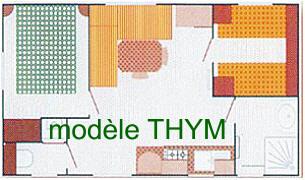 location camping verdon - mobil-home THYM